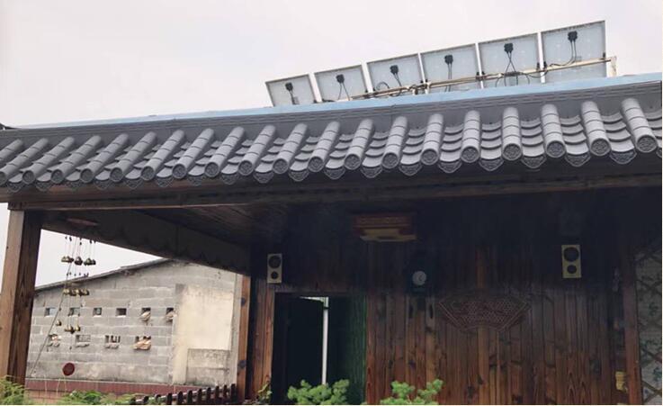 古建一体屋檐仿古瓦工程案例